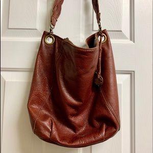 Saddle Brown leather Hobo